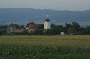 Arkos Unitarian Church, a fortified church built in the 14th Century.