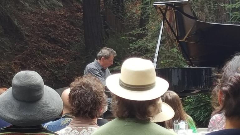 Philip Glass Plays at Concert Program of His Etudes at Henry Miller Library in Big Sur
