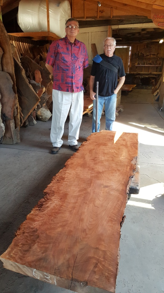 Artisan Burlwood Furniture Factory, in Berkeley, with owner Jim Parodi