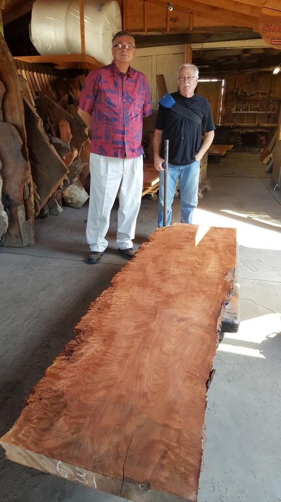 Artisan Burlwood Furniture Factory, in Berkeley, with owner Jim Parodi
